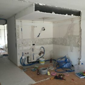 works - demolition of partitions - asbestos removal