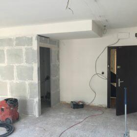 works - construction of plasterboard partitions de plâtre