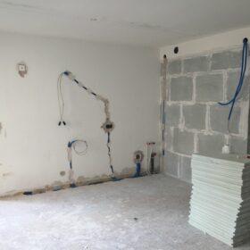 works - construction of plasterboard partitions de plâtre de plâtre