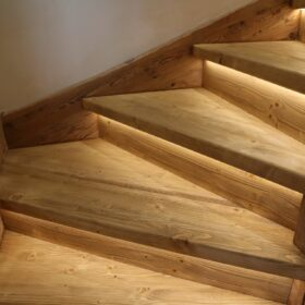 luminous stairs - led strips under each stair