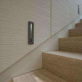 escaliers - détail des luminaires de marches