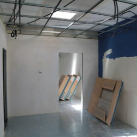 WORKS - installation of the covering