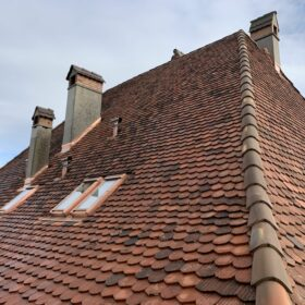 renovated roof - integration of roof windows