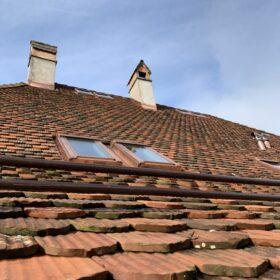 toiture rénovée - intégration des fenêtres de toit