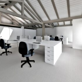 computer-generated image - view of the upstairs offices